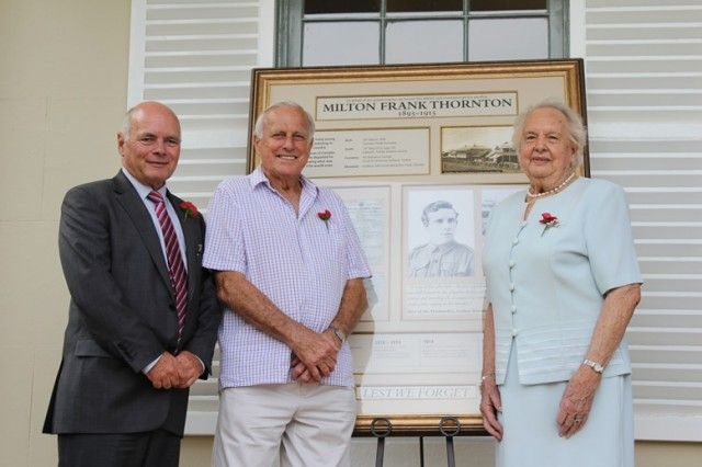 Official unveiling of new local ANZAC commemoration