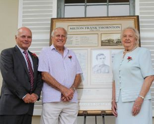 Unveiling of new local ANZAC commemoration
